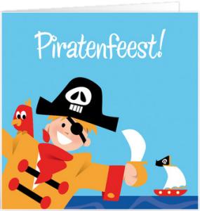 uitnodigingskaart pirantenfeestje
