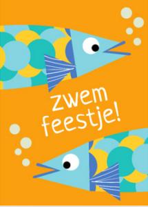 uitnodigingskaart zwemfeestje
